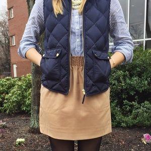 J.Crew Factory Wool Sidewalk Paper Bag Skirt Camel